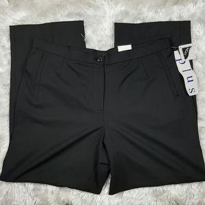Haggar Plus 16W Petite Black Pants Slacks Trousers